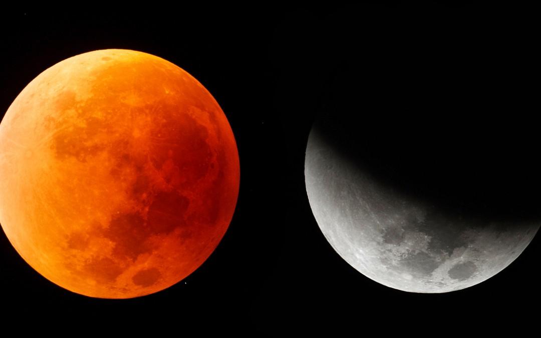Observación eclipse lunar