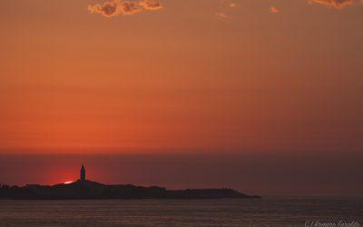 Eclipse de Sol desde A Coruña
